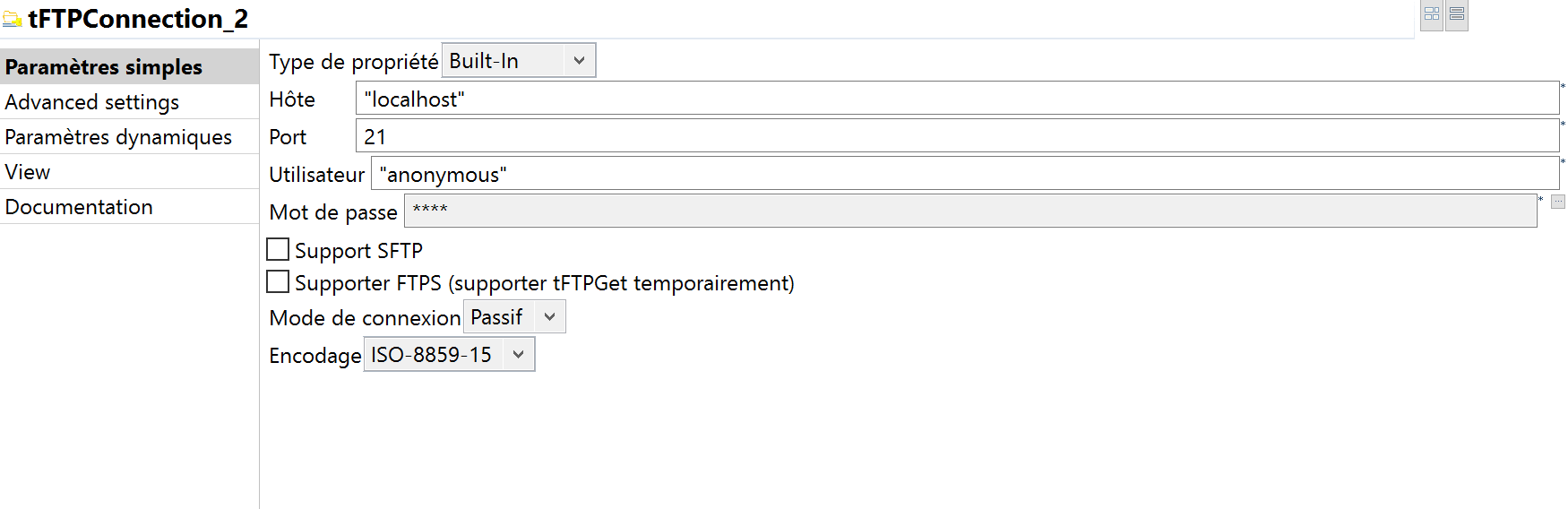 tFTPConnection talend